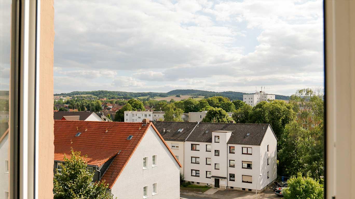 Der Blick aus dem Fenster | Bernwardshof Hildesheim